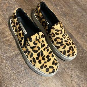 Leopard Steve Madden slip on shoes